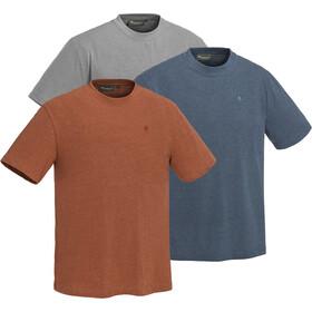 Pinewood Outdoor T-shirt 3 stuks Heren, light grey/terracotta/dark dive